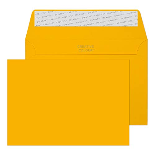 Blake Creative Colour C6 114 x 162 mm 120 gsm Peel & Seal Wallet Envelopes (104) Egg Yellow - Pack of 500 from Blake