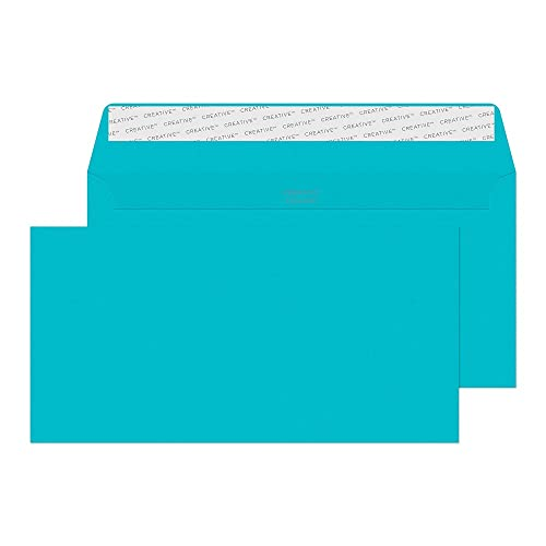 Blake Creative Colour DL+ 114 x 229 mm 120 gsm Peel & Seal Wallet Envelopes (209) Cocktail Blue - Pack of 500 from Blake