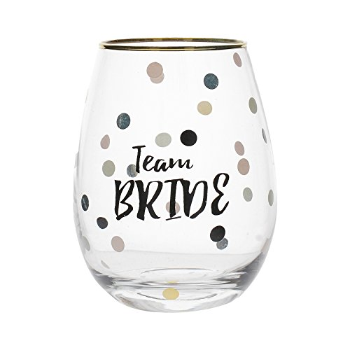 Creative Tops Ava & I 'Team Bride' Decorated Stemless Wine Glass, 590 ml (21 fl oz) from Creative Tops