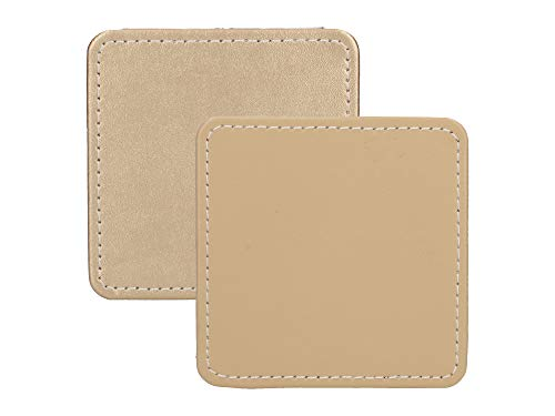 Creative Tops Drink Coasters, Square, Faux Leather, Gold, 10 cm, Set of 4 from Creative Tops