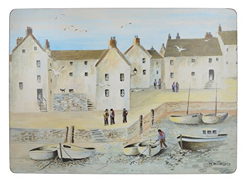 "Creative Tops ""Cornish Harbour"" 4-Piece Set of Cork Backed Placemats by, 40 x 29 cm (16"" x 11"") from Creative Tops"