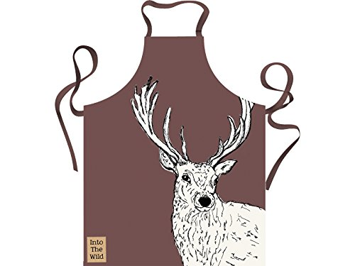 Creative Tops Into The Wild Stag Apron, Cotton, Brown, 42 x 38 x 1 cm from Creative Tops