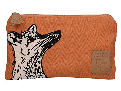 Creative Tops Into the Wild Fox - Print 2 x 23 x 14cm 100% Cotton Decorated Canvas Bag – Orange from Creative Tops