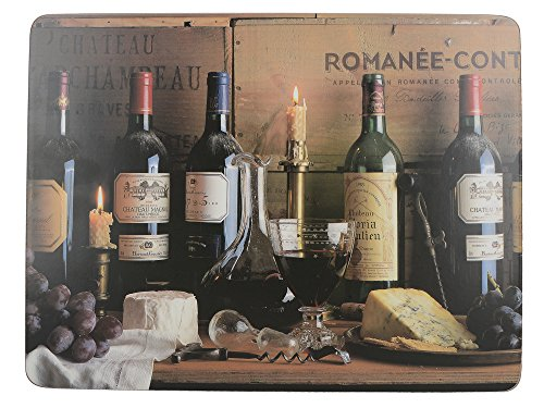 "Creative Tops Vintage Wine Premium 6-Piece Set of Cork-Backed Placemats by, 30 x 22.8 cm (11¾"" x 9"") from Creative Tops"