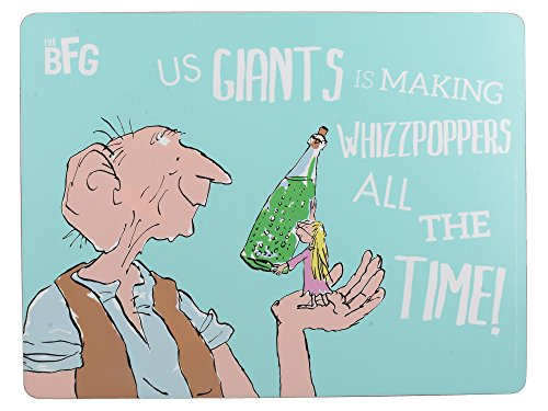 "Roald Dahl THE BFG Heat-Resistant Cork-Backed Printed Placemat, 30 x 23 cm (12"" x 9"") - Blue from Creative Tops"