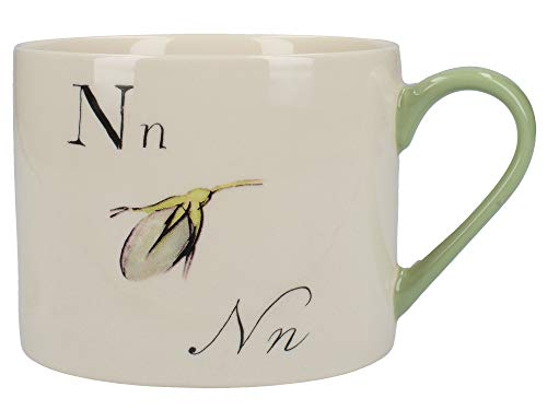 V&A Nonsense Alphabet Collectible Ceramic Mug with Printed 'N…' Poem, 430 ml (15 fl oz) - White / Green from Creative Tops