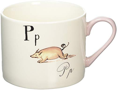 V&A Nonsense Alphabet Collectible Ceramic Mug with Printed 'P…' Poem, 430 ml (15 fl oz) - White / Pink from Creative Tops