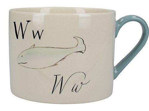 V&A Nonsense Alphabet Collectible Ceramic Mug with Printed 'W…' Poem, 430 ml (15 fl oz) - White / Blue from Creative Tops