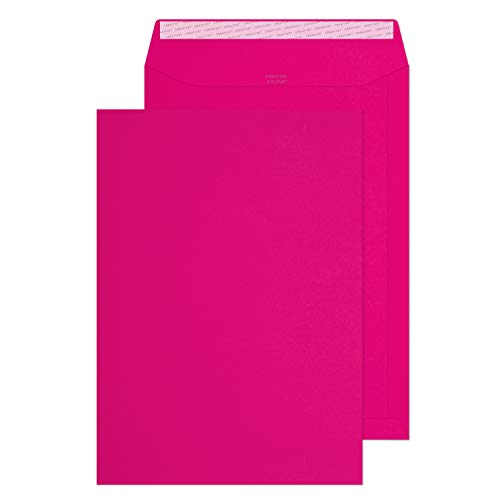 Blake Creative Colour C4 229 x 324 mm 120 gsm Peel & Seal Wallet Envelopes (442) Shocking Pink - Pack of 250 from Blake