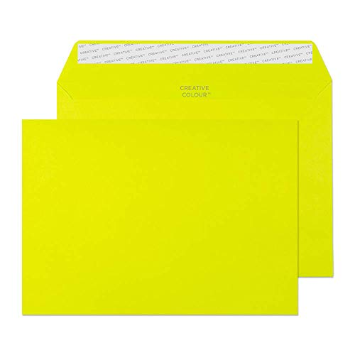 Blake Creative Colour C5 162 x 229 mm 120 gsm Peel & Seal Wallet Envelopes (45341) Acid Green - Pack of 25 from Blake