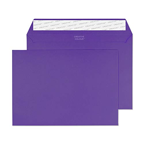 Blake Creative Colour C5 162 x 229 mm 120 gsm Peel & Seal Wallet Envelopes (347) Blackcurrant - Pack of 500 from Blake