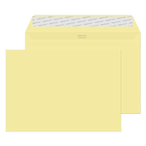 Blake Creative Colour C5 162 x 229 mm 120 gsm Peel & Seal Wallet Envelopes (45354) Vanilla Ice Cream - Pack of 25 from Blake