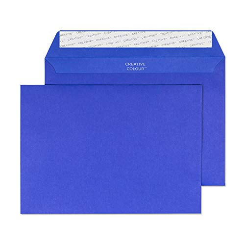 Blake Creative Colour C5 162 x 229 mm 120 gsm Peel & Seal Wallet Envelopes (343) Victory Blue - Pack of 500 from Blake
