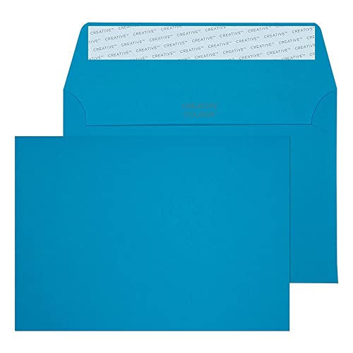 Blake Creative Colour C6 114 x 162 mm 120 gsm Peel & Seal Wallet Envelopes (110) Caribbean Blue - Pack of 500 from Blake