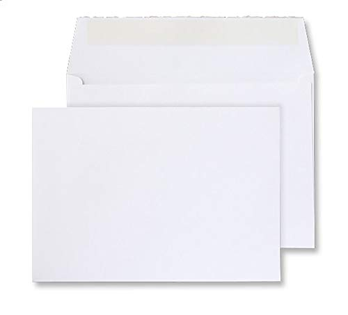 Creative Senses C6 114 x 162 mm Wallet Peel and Seal Envelope - Beautifully White (Pack of 50) from Blake