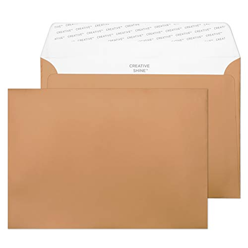 Blake Creative Shine C5 162 x 229 mm 130 gsm Peel & Seal Wallet Envelopes (332) Metallic Copper Pack of 500 from Blake