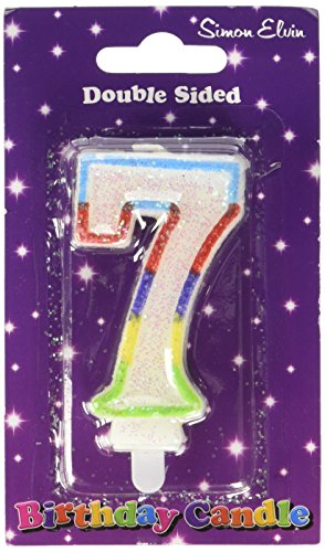 Glittered Birthday Candle - Number 7 from Creative