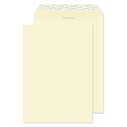 Blake Creative Colour C4 229 x 324 mm 120 gsm Pocket Peel & Seal Envelopes (63953) Clotted Cream - Pack of 10 from Blake