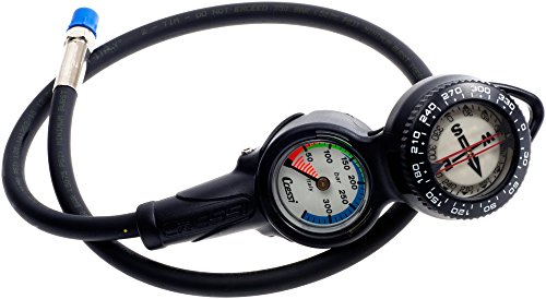 Cressi 2 Compass and Pressure Gauge Bar Diving Console - Black from Cressi