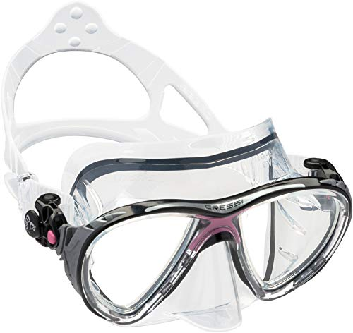Cressi Men's Big Eyes Evolution Scuba Diving and Snorkeling Mask, Clear/Pink, One Size from Cressi