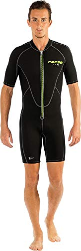 Cressi Men's Lido Neoprene Shorty Wetsuit, Black, X-Small/Size 1/Size 32/Size 34 from Cressi