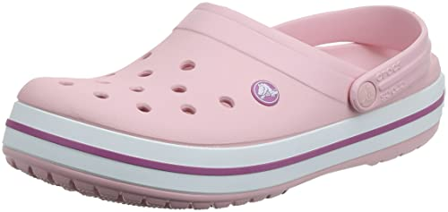 Crocs Crocband, Unisex-Adults Clogs, Pink (Pearl Pink/Wild Orchid), M7/W8 UK (41-42 EU) from Crocs