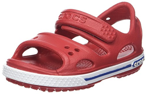 Crocs Kids' Crocband Ii Sandal, Red (Pepper/Blue Jean), 6 UK Child from Crocs