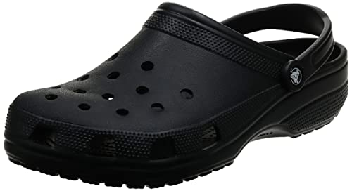 Crocs Unisex Adults' Classic Clogs , Black (Black) , 6 UK Women / 5 UK Men (8 US Women / 6 US Men) from Crocs