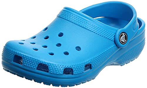Crocs Unisex Kids' Classicclogk Clogs, Blue (Ocean), Child UK 10 from Crocs