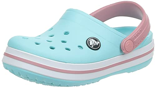Crocs Unisex Kid's Crocband Clog K, Blue (Ice Blue-White),  6 UK Child (22-23 EU) from Crocs