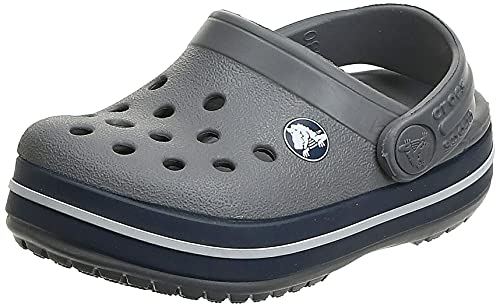 Crocs Unisex Kid's Crocband Clog K, Grey (Smoke-Navy 05H),  7 UK Child (23-24 EU) from Crocs