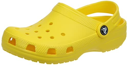 Crocs Classic Unisex Adults T-Bar Pumps, Yellow (Lemon), 7 UK Men/8 UK Women from Crocs