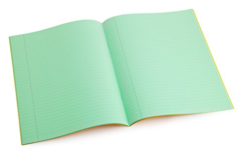 Dyslexia Tinted Exercise Books - A4-8mm lined with margin - Apple (10 Pack) from Crossbow Education