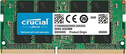 Crucial CT8G4SFS8266 8 GB (DDR4, 2666 MT/s, PC4-21300, Single Rank x8, SODIMM, 260-Pin) Memory from Crucial