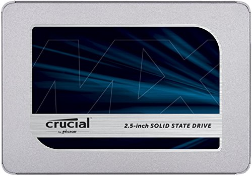 Crucial MX500 250 GB CT250MX500SSD1-Up to 560 MB/s (3D NAND, SATA, 2.5 Inch, Internal SSD) from Crucial