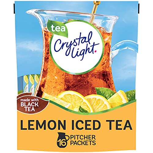 CRYSTAL LIGHT - NATURAL LEMON ICED TEA FLAVOUR DRINK MIX - MAKES 32 QUARTS - 121g POUCH AMERICAN from Crystal Light