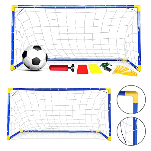 Crystals Premium Quality 2 Mini Outdoor Indoor Kids Children Soccer Football Goals Post Ball Net from Crystals