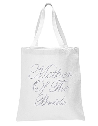 White Mother Of The Bride Luxury Crystal Bride Tote bag wedding party gift bag Cotton from CrystalsRus