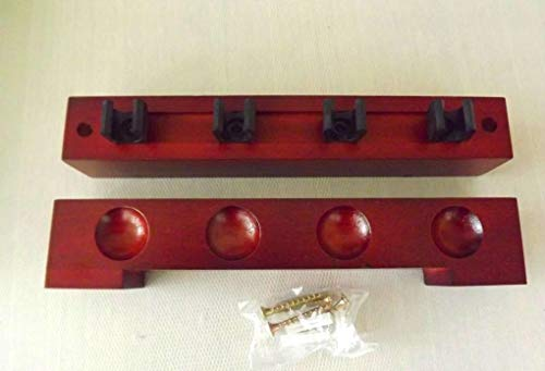 2 PIECE MAHOGANY POOL/SNOOKER CUE RACK HOLDS 4 CUES** from cueball16