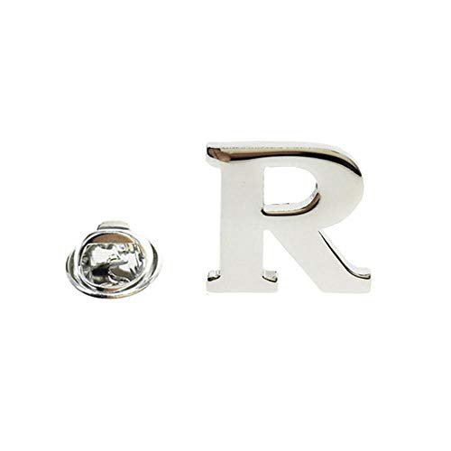 Cuff-Arts Lapel Pin Badges Alphabet Letter Lapel Pin with a Gift Box R from Cuff-Arts
