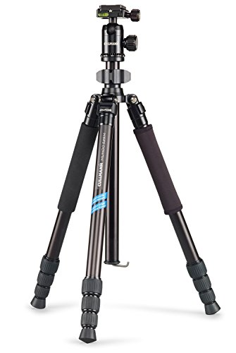 Cullmann MUNDO 525M Tripod 62.8 inch with integrated monopod black + ball head incl. quick release coupling system +  short centre column + carrying bag ideal for macro and travel (3.64 lbs folded 17.91 inch) for DSLR + CSC from Cullmann
