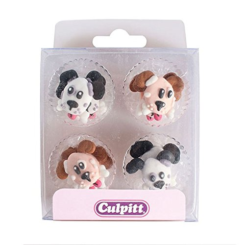 12 Dog Sugar Cake Decorations from Culpitt