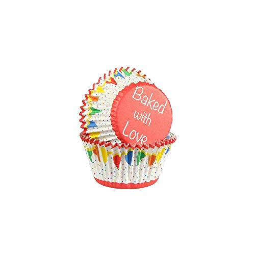 Baked With Love Bunting Primary Colour Cupcake Cases from Culpitt