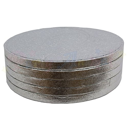 Pack of 5 Round Cake Drum Boards 10 in 254 mm x 13mm (Pack of 5) from Culpitt