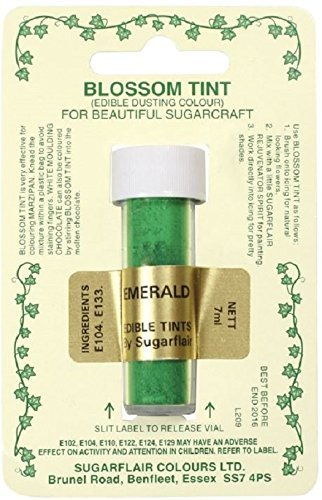 Sugarcraft Sugarflair Colour Blossom Tint Powder Dust Emerald 7ml from Culpitt