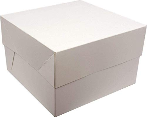 "White Cake Box with lid for Transporting Cakes (14"" inch) from Culpitt"