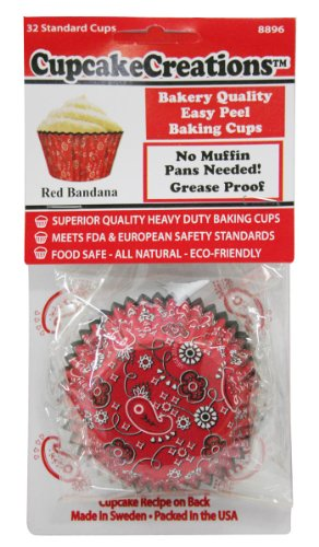 Cupcake Creations Paper Standard Baking Cups-Red Bandanna 3 from Cupcake Creations
