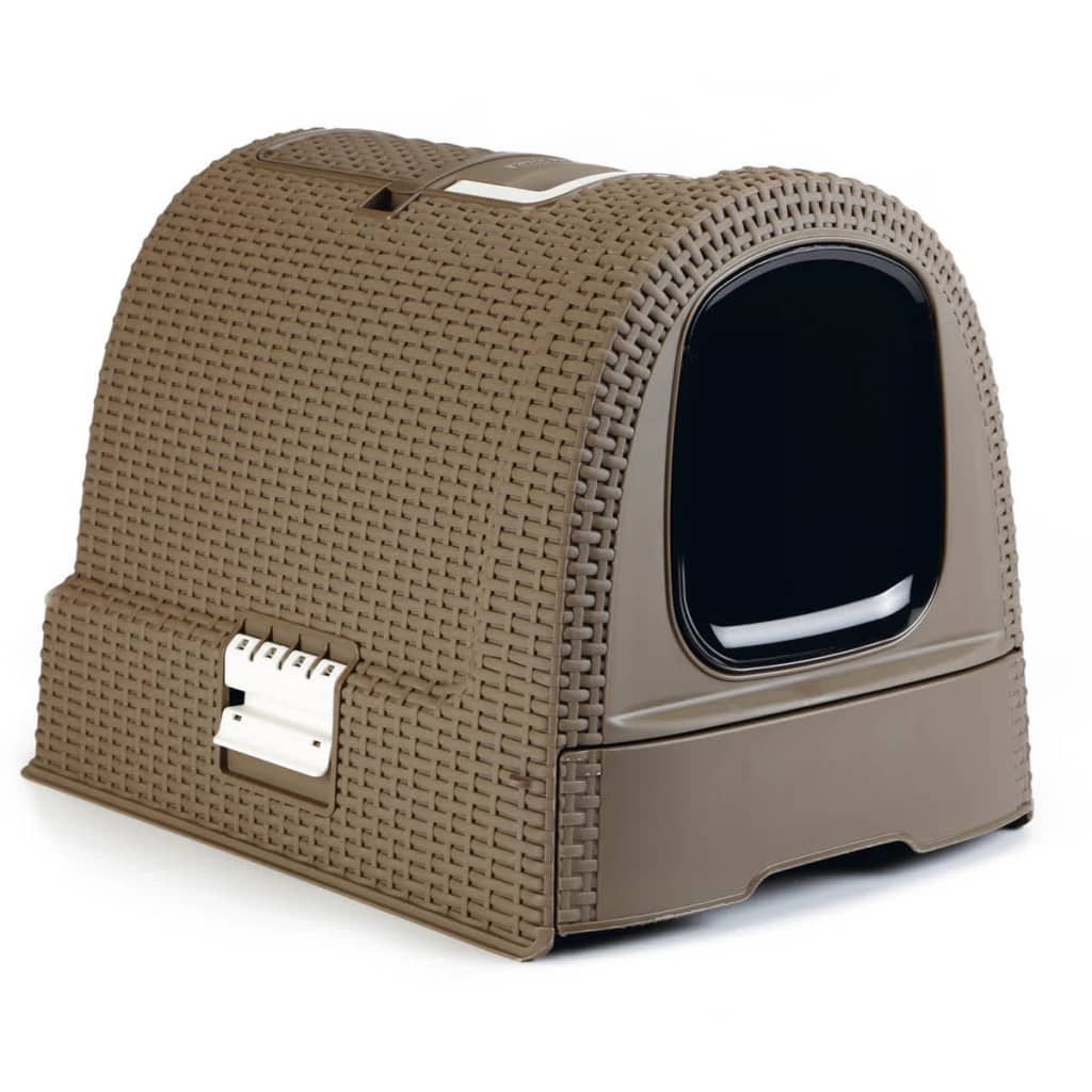 Curver Hooded Cat Litter Box 51x38.5x39.5 cm Mocca 400461 from Curver