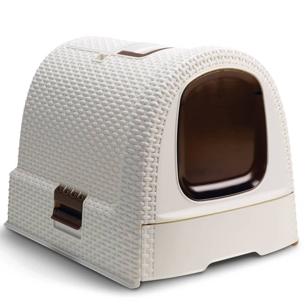 Curver Hooded Cat Litter Box 51x38.5x39.5 cm White 400462 from Curver