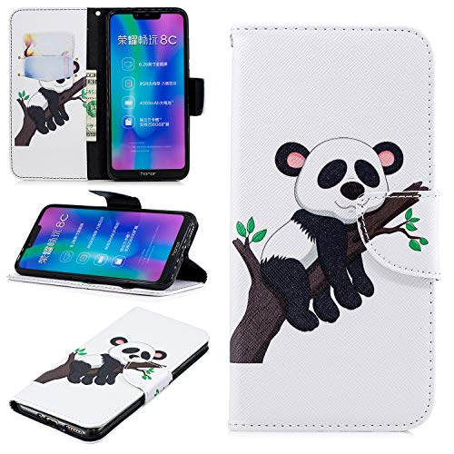 Custodia® 3D Relief Patterns Flip Wallet Case for Huawei Honor 8C (Pattern 6) from Custodia